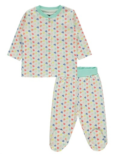 Civil Baby Civil Baby Kız Bebek Pijama Takımı 3-6 Ay  Pudra Civil Baby Kız Bebek Pijama Takımı 3-6 Ay  Pudra Renkli